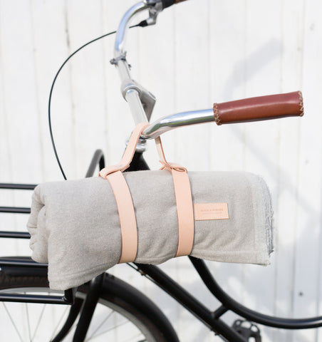 Picnic Blanket Grey and Peach