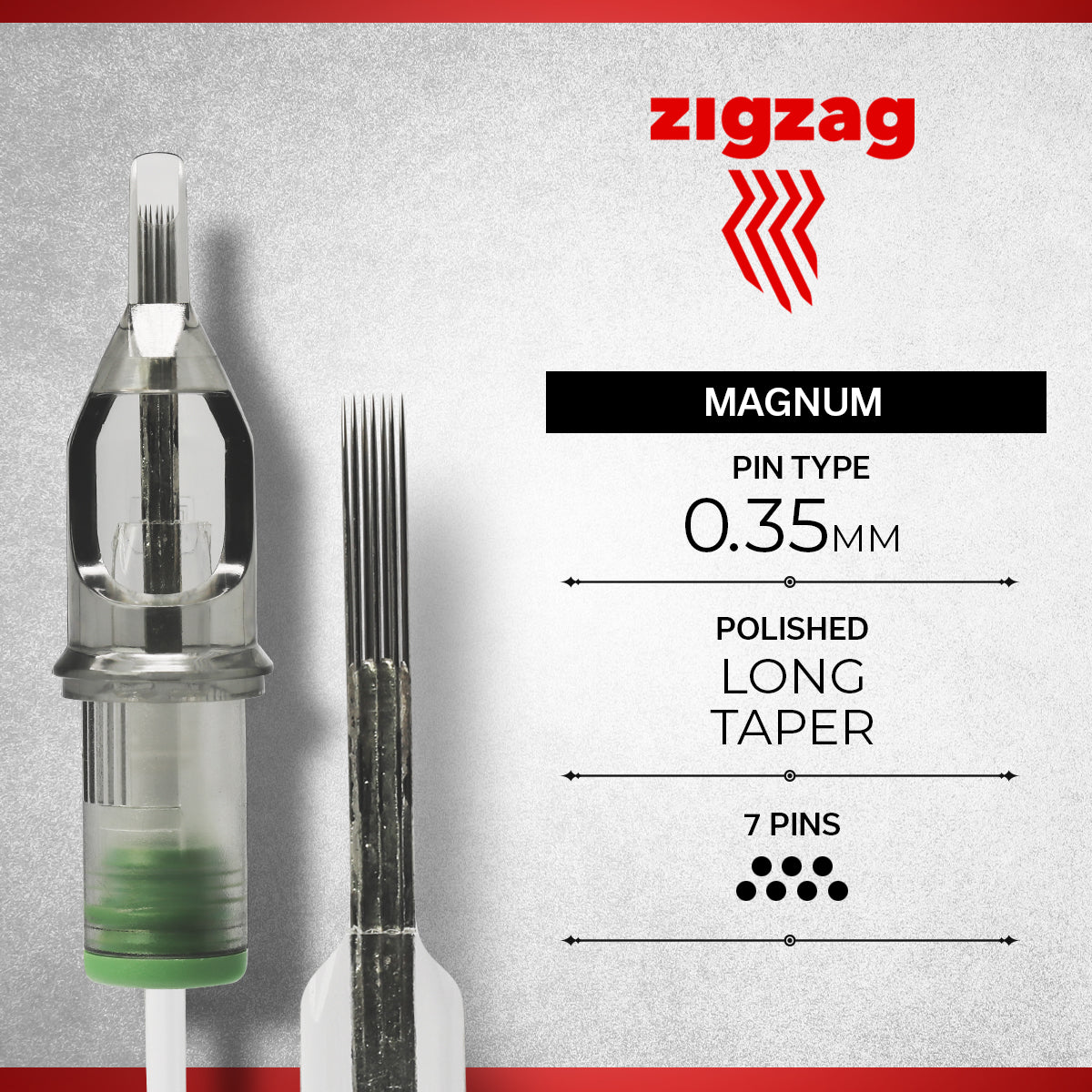 ZIGZAG - MAGNUM REGULAR, Needles, - Inktrek