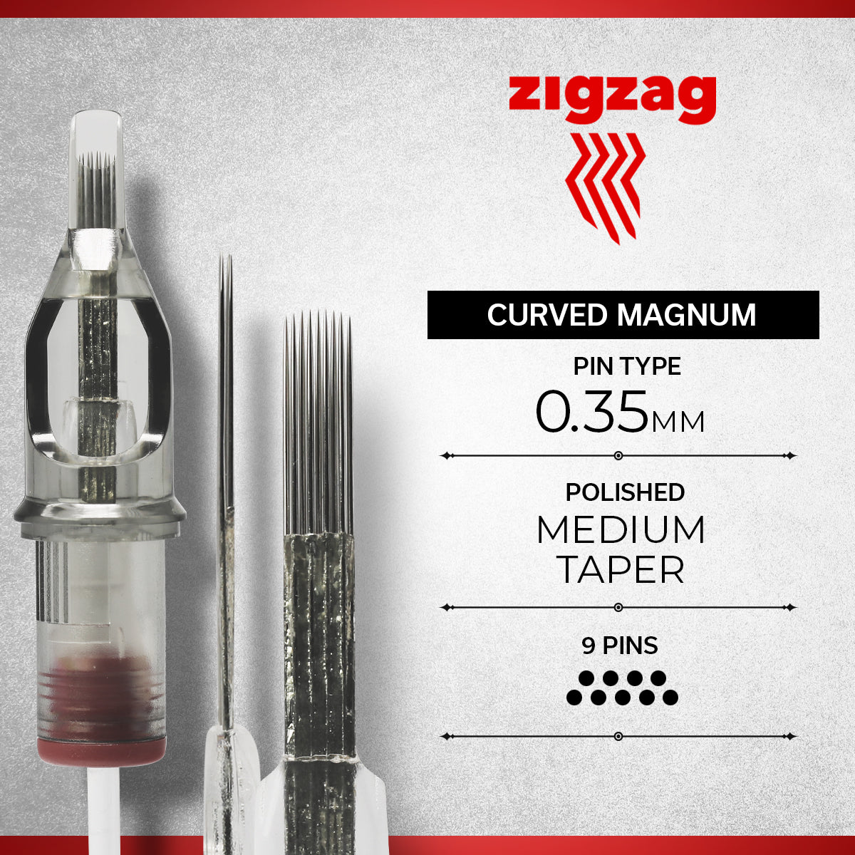 ZigZag Curved Magnum - Regular, Needles, - Inktrek