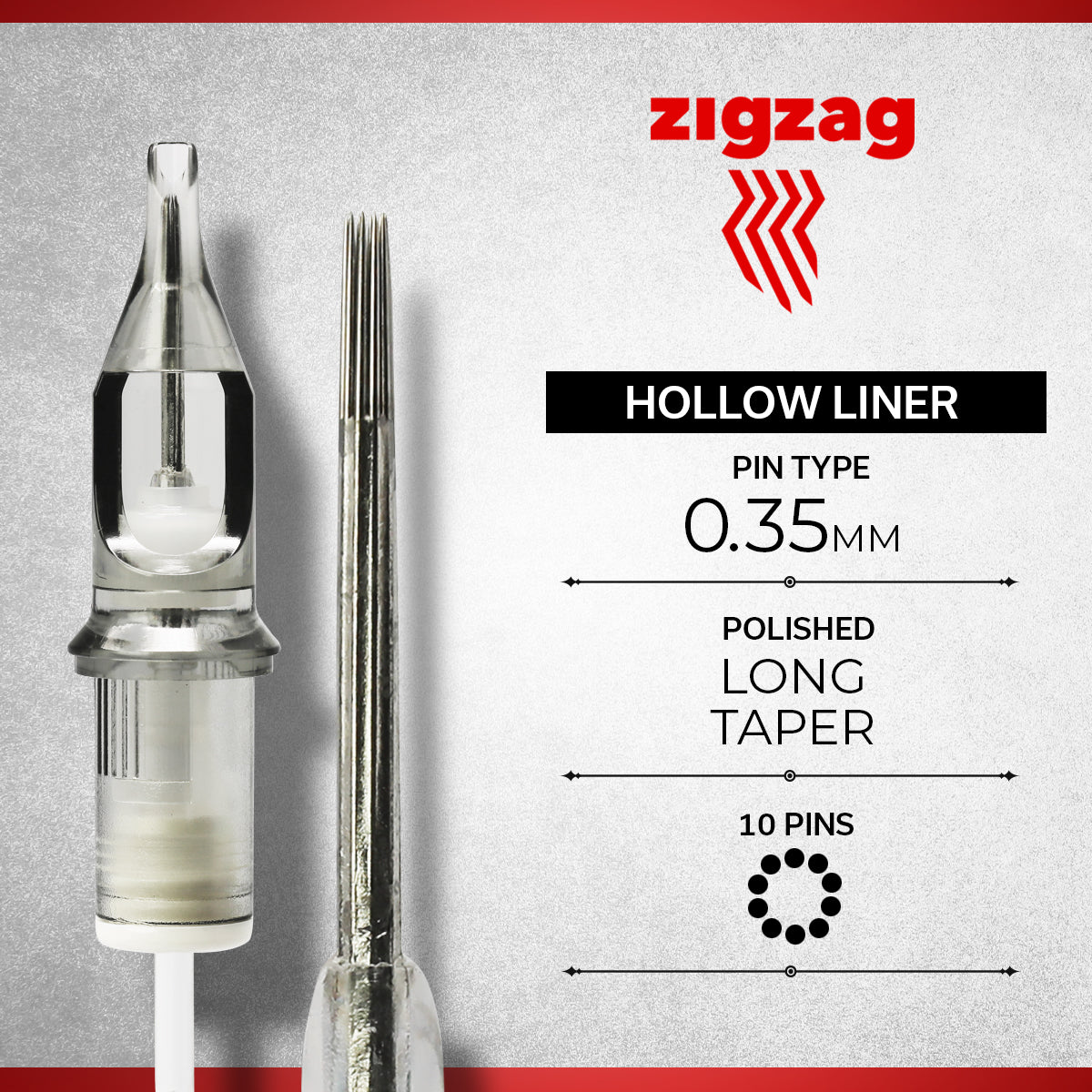 ZIGZAG - HOLLOW, Needles, - Inktrek
