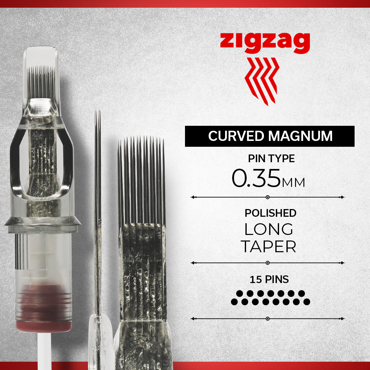 ZIGZAG - CURVED MAGNUM REGULAR, Needles, - Inktrek