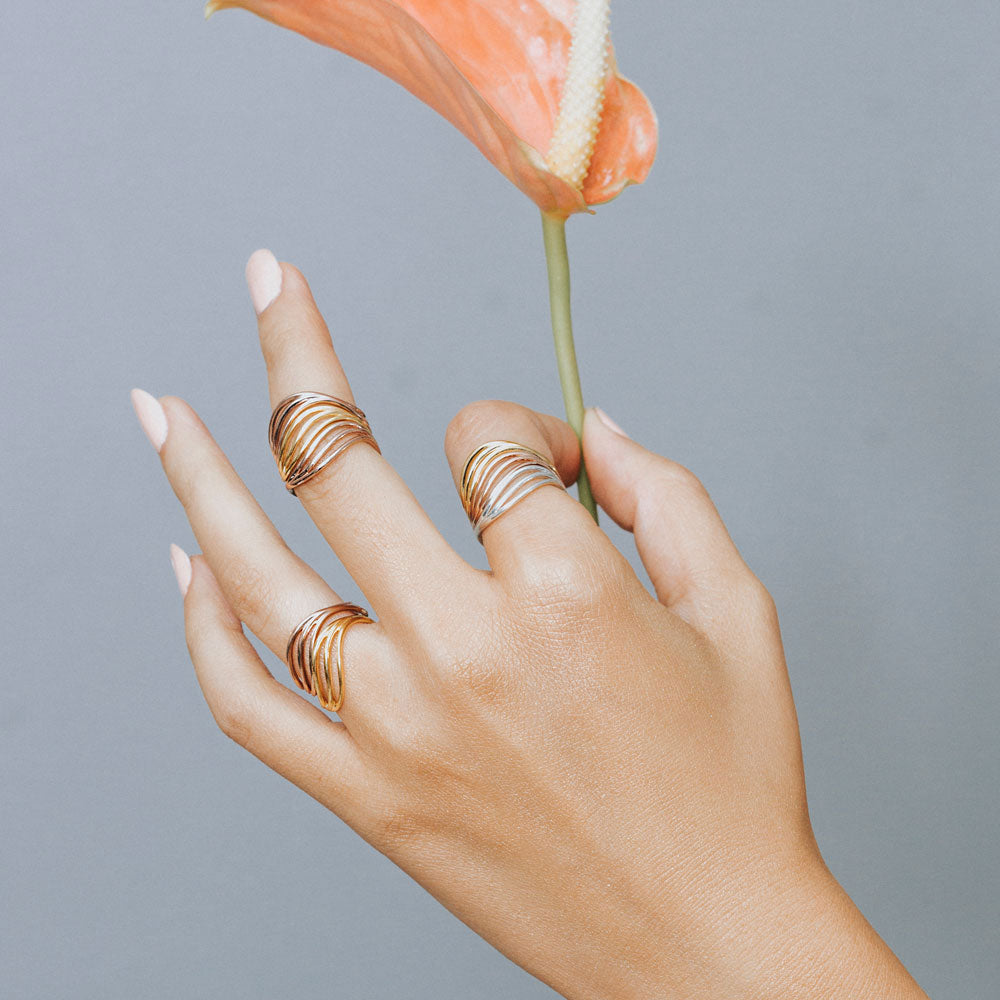 Low Tide Water Wave Ring | 3D Printed Jewelry | 3D Printing Fashion