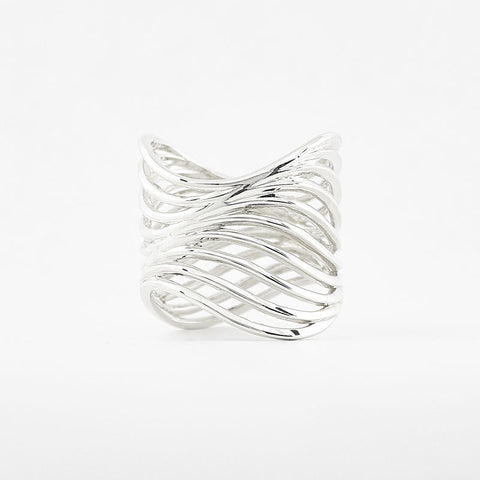 Mid Tide Water Wave Ring | 3D Printed Jewelry | 3D Printing Fashion
