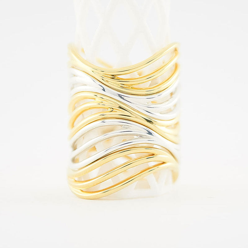 Low Tide Water Wave Ring | 3D Printed Jewelry Gift for Her | 3D Printing Fashion