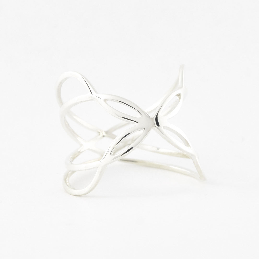 925 sterling silver 3D printed Boss Butterfly Ring