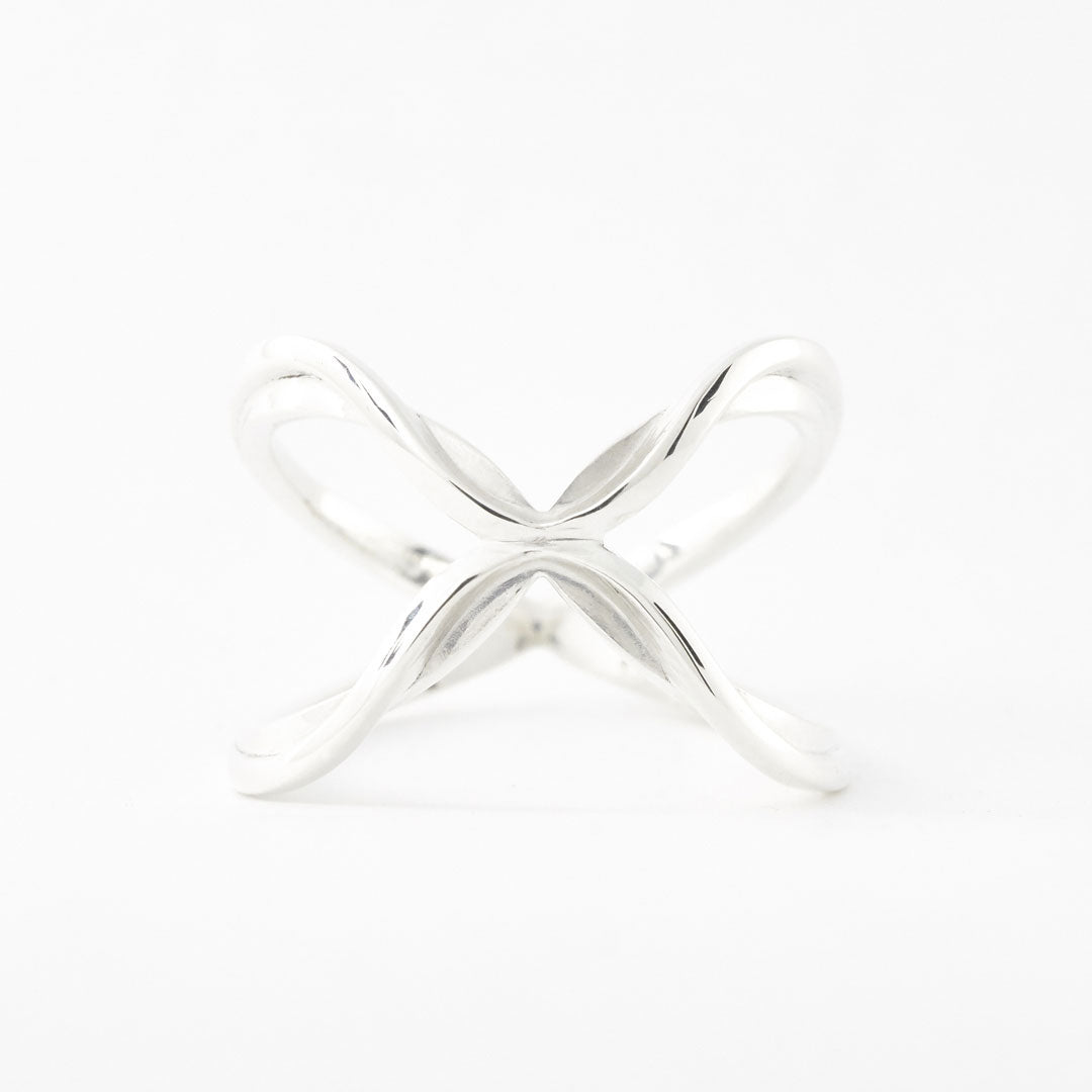 925 sterling silver 3D printed Hustlin Butterfly Ring front view