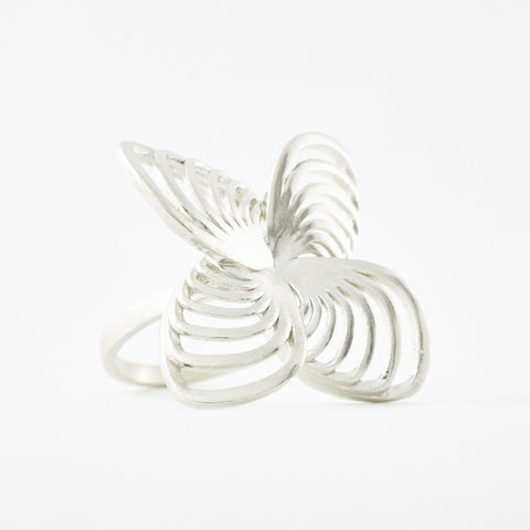 The Positive Vibes Butterfly Ring | 3D Printed Jewelry | 3D Printing Fashion