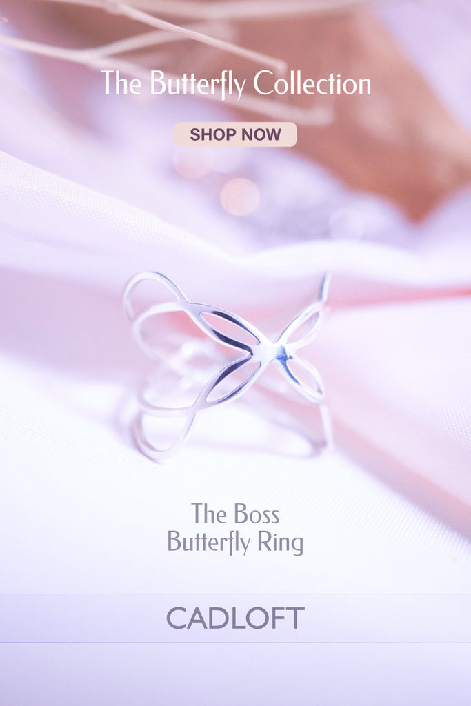 The Boss Butterfly Ring | 3D Printed Jewellery Gifts | 3D Printing Fashion