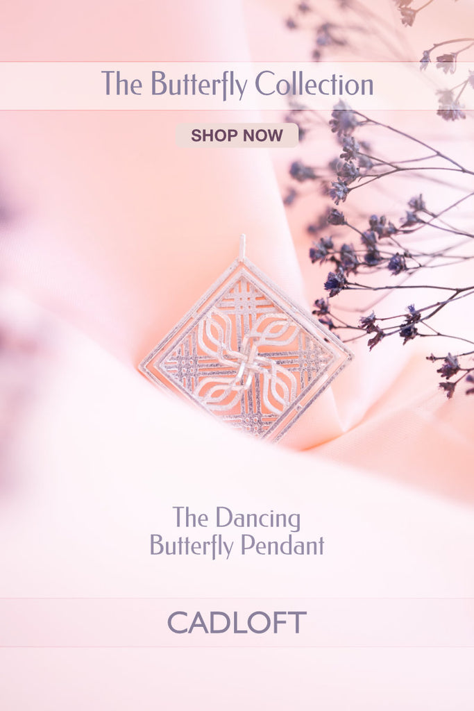 The Dancing Butterfly Pendant | 3D Printed Jewellery Gifts | 3D Printing Fashion