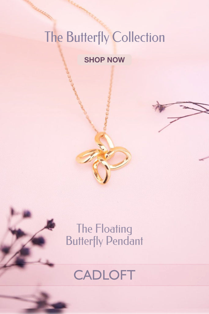 The Floating Butterfly Pendant | 3D Printed Jewellery Gifts | 3D Printing Fashion