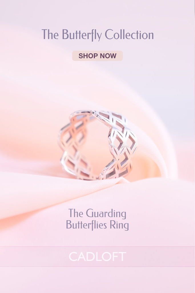 The Guarding Butterflies Ring | 3D Printed Jewellery Gifts | 3D Printing Fashion