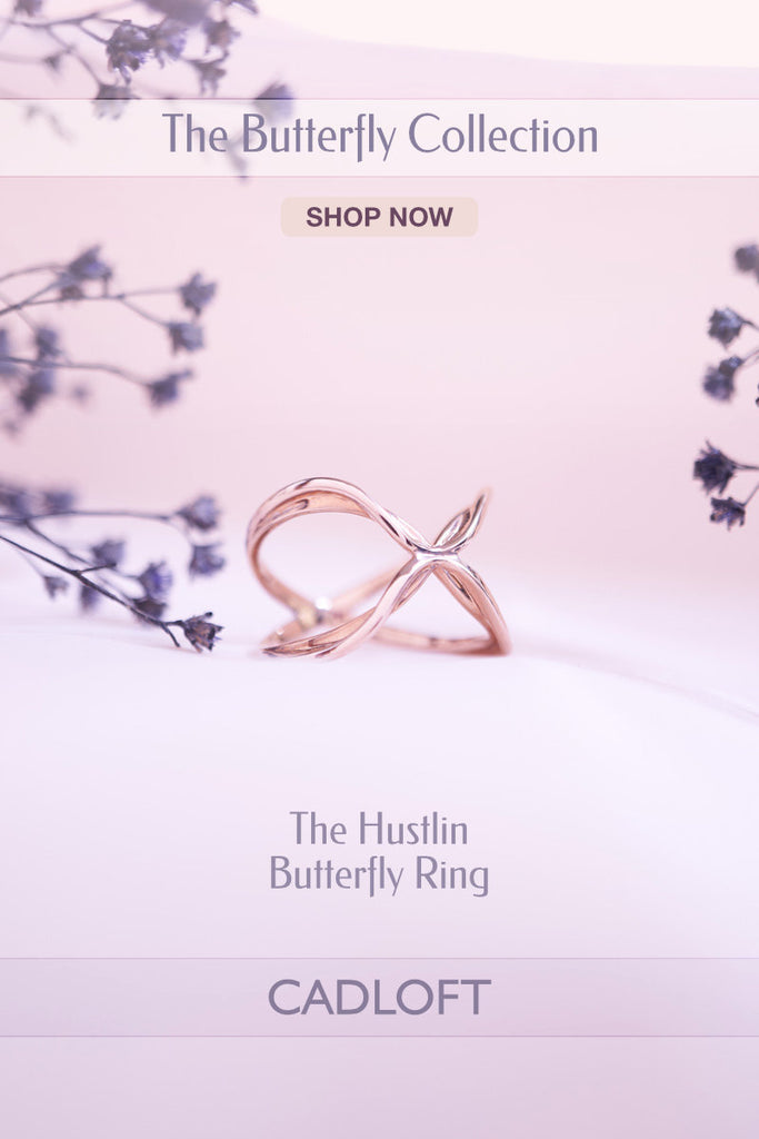The Hustlin Butterfly Ring | 3D Printed Jewellery Gifts | 3D Printing Fashion