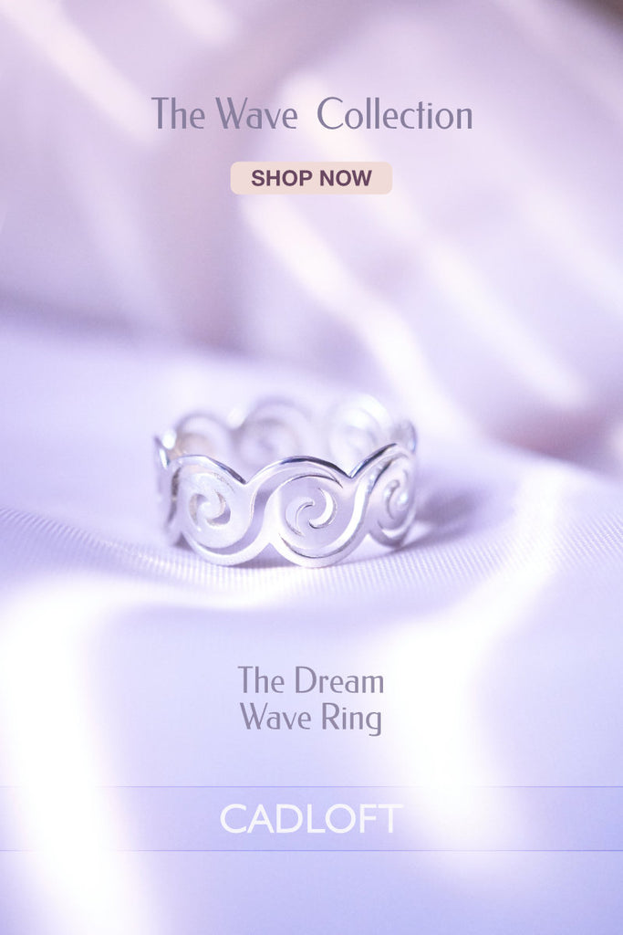 The Dream Wave Ring | 3D Printed Jewellery Gift for Her | 3D Printing Fashion