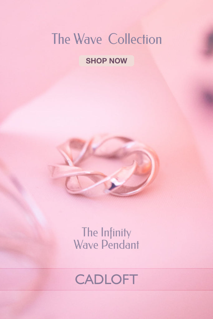 The Infinity Wave Pendant | 3D Printed Jewellery Gift for Her | 3D Printing Fashion