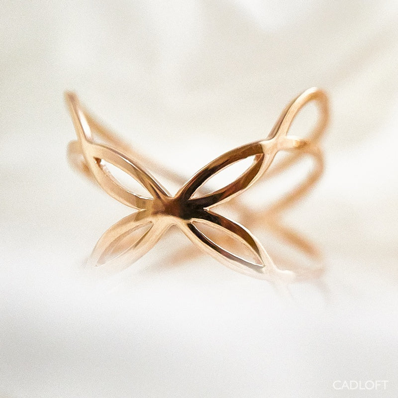 The Boss Butterfly Ring | 3D Printed Jewelry | 3D Printing Fashion