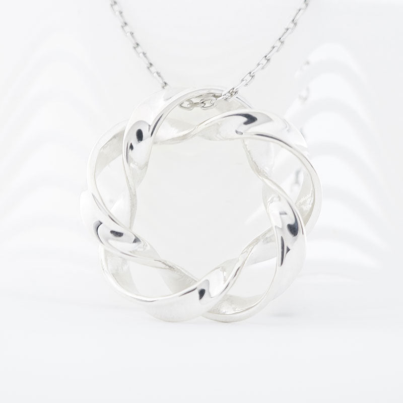 3D printed sterling silver jewelry wave pendant