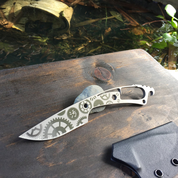 Dirte Knives - Titanium Knife - Steamy Tick - Back