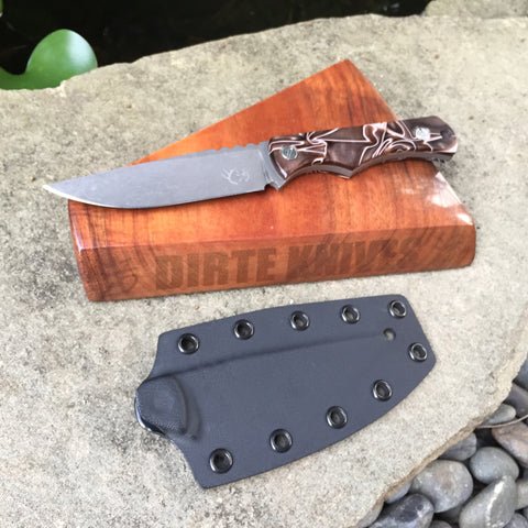 Dirte Knives - Custom Knife - Dirte DPH Hollow - Desert Camo
