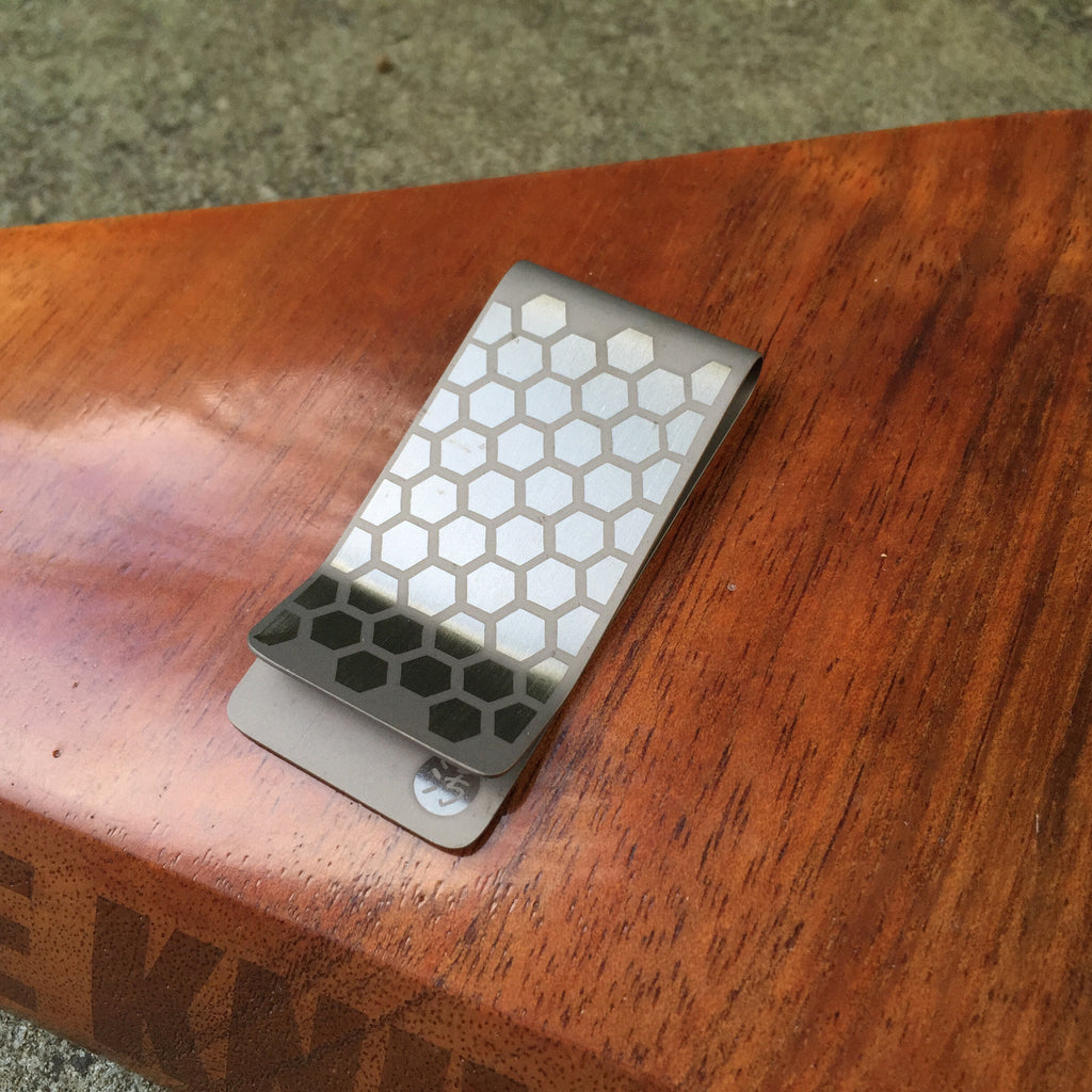 Honeycomb Ti Money Clip