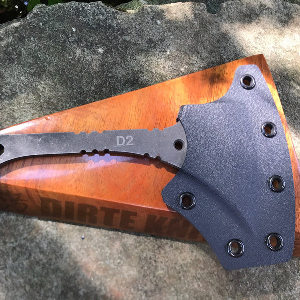 Dirte Knives - Custom Knife - Heliconia Handhawk #2 - Sheath