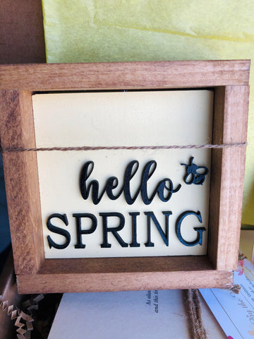 Hello Spring Sign in the True North Subscription Box