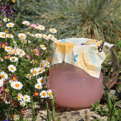 Cover juice with beeswax wrap