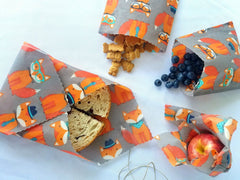 Use beeswax wraps for snacks