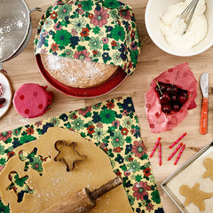 Use a beeswax wrap as a board to roll out cookies