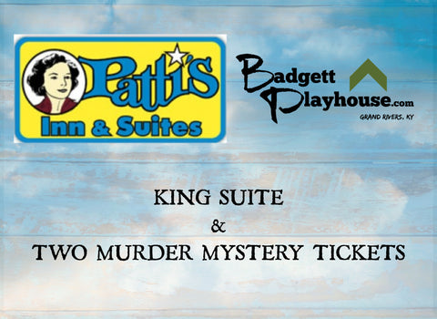 King Suite and 2 Murder Mystery Tickets