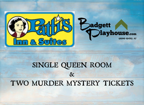 Single Queen Room and 2 Murder Mystery Tickets