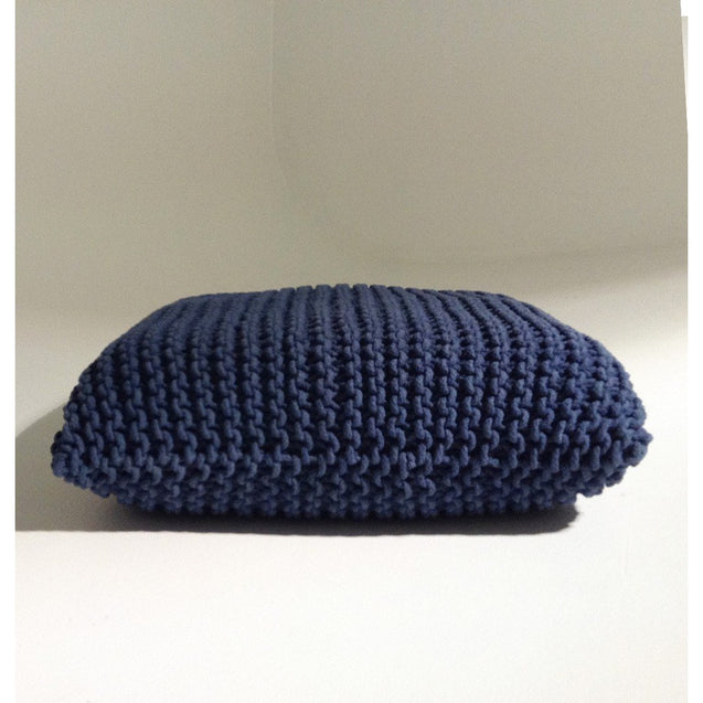 Handmade Knitted Floor Cushion | Reflecting Pond | GFURN