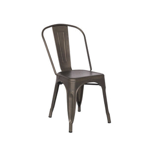 Reproduction of Xavier Pauchard Tolix Style Dining Chair - Rust | GFURN