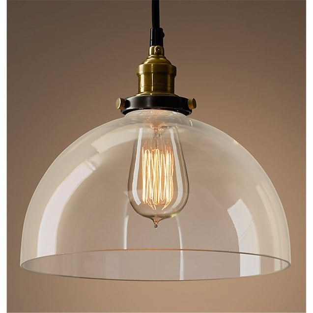 Factory Filament Clear Glass Dome Pendant Lamp | GFURN