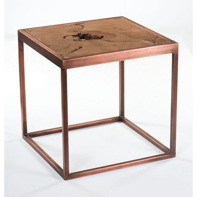 Taula Side Table with Copper Base | GFURN