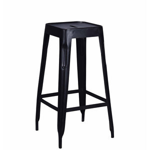Tolix Style Bar Stool Black - Iron - Reproduction | GFURN