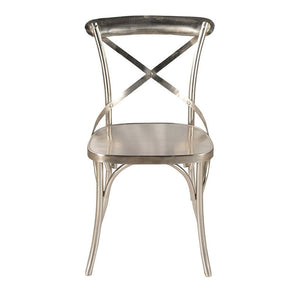 X Cross Back Dining Chair - Iron | GFURN