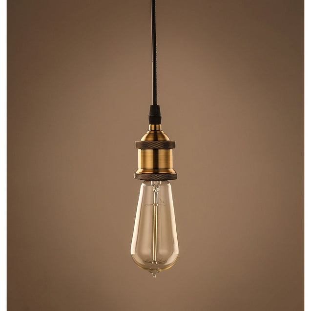 Filament Metal Bare Bulb Edison Single Pendant Light - Bronze | GFURN