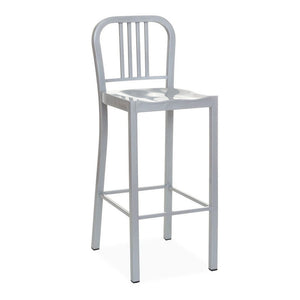 Oliver Bar Stool - Silver - Reproduction | GFURN