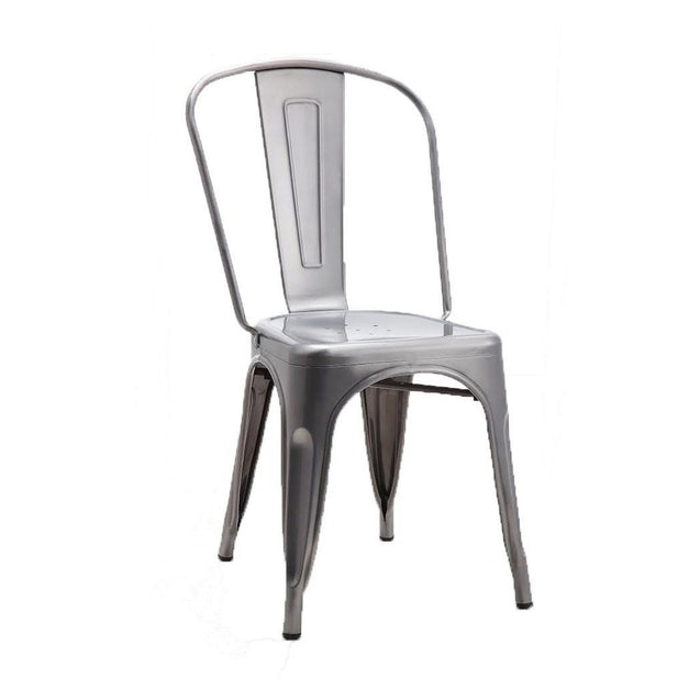 Tolix Style Dining Chair - Brushed Transparent - Reproduction | GFURN