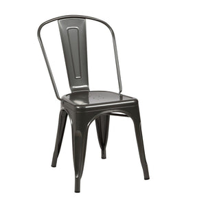 Tolix Style Dining Chair - Gunmetal - Reproduction | GFURN