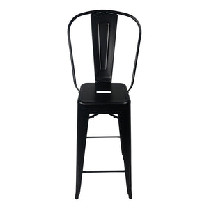 Tolix Style Bar Stool High Back Chair - Reproduction | GFURN