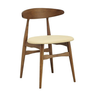 Telyn Dining Chair - Cocoa & Cream | GFURN