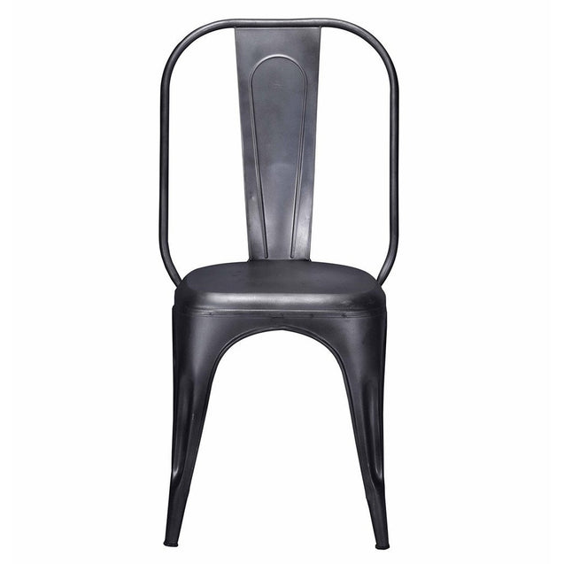 Tolix Style Dining Chair Grey - Iron - Reproduction | GFURN