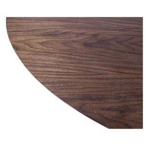 Tulip Dining Table - Oval - Walnut Top - Reproduction | GFURN
