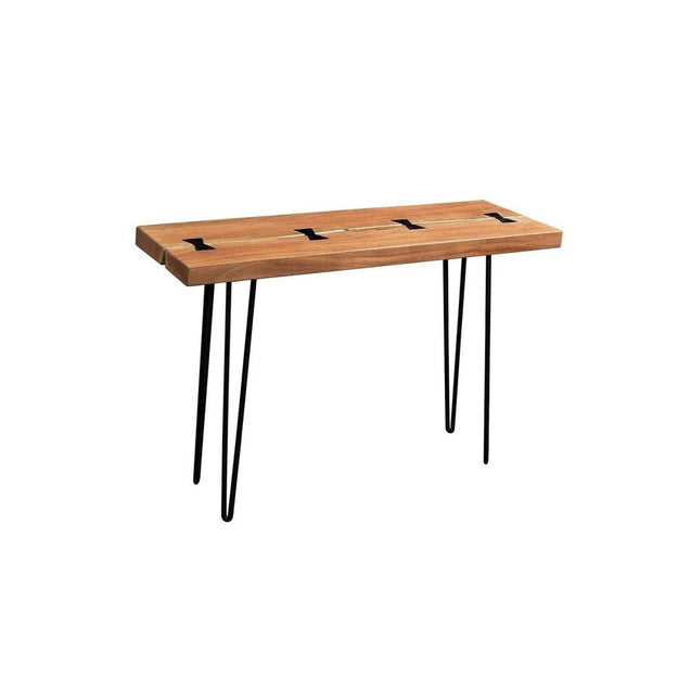 Driftwood Solid Acacia Console Table with Hairpin Legs | GFURN