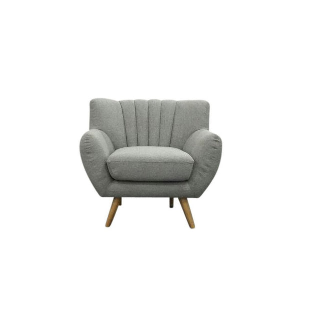 Lilly 1-Seater Lounge Chair - Light Grey | GFURN