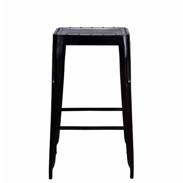 Industrial Bar Stool Big Raw Metal | GFURN