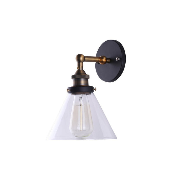 Clear Glass Funnel Filament Wall Lamp | GFURN