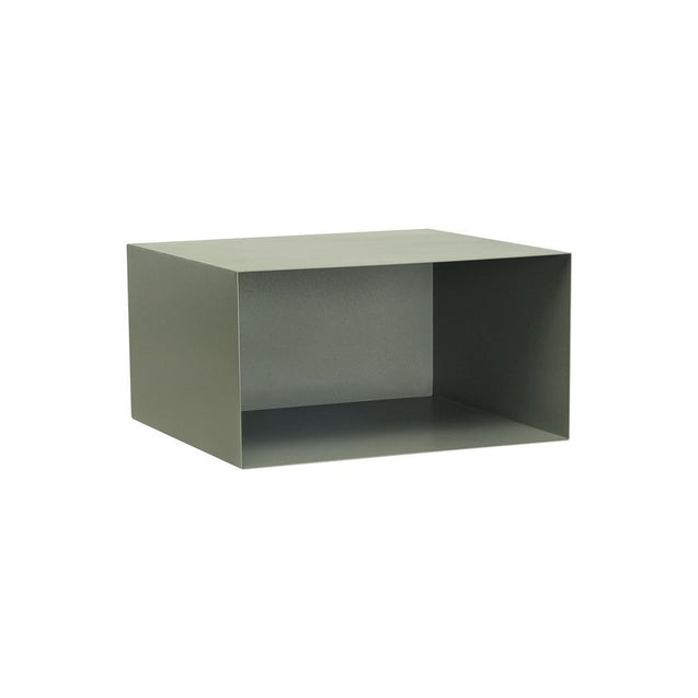 Baxter Rectangular Metal Box Shelf - Grey | GFURN