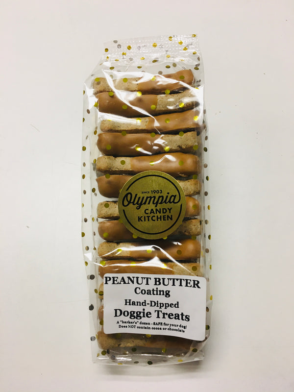 Hand Dipped Peanut Butter Doggie Treats